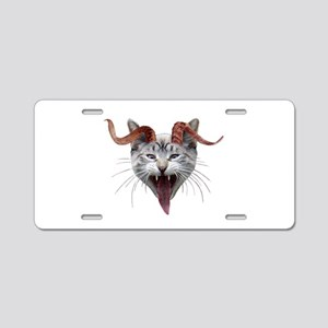 Krampus Cat Aluminum License Plate